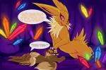 akira_(pokesona) ambiguous_gender candyfoxy canine cum dialogue duo eevee eeveelution electricity electrostimulation english_text feral heterochromia jolteon male mammal nintendo pokémon text video_games   Rating: Explicit  Score: 30  User: slyroon  Date: May 18, 2014