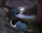 ambiguous_gender cloud crying grass lucario nintendo pokémon rocks sad spikes tears tom_smith tree video_games water wood   Rating: Safe  Score: 19  User: Assassin1O2  Date: June 28, 2012