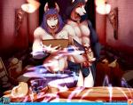 2015 abs ankh anthro anubian_jackal bulge canine clothed clothing duo egyptian eyes_closed half-dressed hieroglyphics hood jackal magic male mammal muscles nipples pecs ritual salkitten topless torch wetblush   Rating: Questionable  Score: 11  User: Numeroth  Date: January 21, 2015