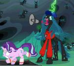 animated changeling clenched_teeth clothing coach edit equine feral flying friendship_is_magic hat horn jewelry levitation long_tongue magic mammal megaphone my_little_pony necklace open_mouth queen_chrysalis_(mlp) running screencap spread_wings starlight_glimmer_(mlp) sweatband sweater teeth thorax_(mlp) tongue tongue_out treadmill unicorn unknown_artist whistle wings