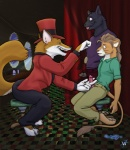 anthro associated_student_bodies canine checkered_floor chris_mckinley clothing curtains daniel_king feline fox gerald_anton group hanndjob hat hypnosis lion male male/male mammal mind_control open_pants pants penis precum stool top_hat   Rating: Explicit  Score: 10  User: furryanon  Date: March 18, 2013