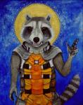 anthro clothed clothing fur guardians_of_the_galaxy halo looking_at_viewer male mammal marvel open_mouth raccoon rocket_raccoon solo suttar teeth traditional_media_(artwork) watercolor_(artwork)  Rating: Safe Score: -7 User: ISO9000 Date: July 07, 2015