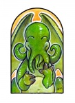 2007 anthro cephalopod cthulhu cthulhu_mythos cute eldritch_horror green_body h.p._lovecraft happy male marine membranous_wings monster navel octopus solo tentacles ursula_vernon wings