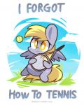 amber_eyes ball blonde_hair cloud cutie_mark derpy_hooves_(mlp) english_text equine feathered_wings feathers female feral friendship_is_magic frown fur grass grey_feathers grey_fur hair holding_object lifeloser long_hair looking_at_viewer mammal my_little_pony outside pegasus sky slightly_chubby solo tennis tennis_ball tennis_racket text wings yellow_eyesRating: SafeScore: 22User: DeatronDate: September 15, 2013