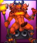2015 3_heads anthro armor balls barazoku big_penis brown_fur canine cerberus erection fangs fur horn league_of_legends male mammal marlon_cores_(artist) multi_head muscles nasus nipples nude open_mouth paws pecs penis solo tongue tongue_out vein video_games  Rating: Explicit Score: 15 User: JohnFreak Date: June 29, 2015""