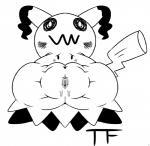 blush female mimikyu monochrome nintendo pokémon pokémon_(species) pussy_bulge pussy_juice pussy_juice_through_clothing simple_background solo thunderfap video_games white_background worriedRating: ExplicitScore: 11User: Furrin_GokDate: November 09, 2017