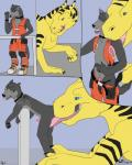 2017 animal_genitalia animal_penis anthro anthro_on_feral bestiality butt canine clothed clothing collar comic digital_media_(artwork) digitigrade dragon duo erection feral fur glomp greypolf hi_res interspecies licking male male/male mammal nude open_mouth oral penis prevore saliva sex simple_background size_difference smile standing sucking surprise teeth tlan_atolm tongue tongue_out wolf wolfywetfurr_(artist)Rating: ExplicitScore: 2User: wolfywetfurrDate: May 22, 2017
