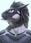 2015 anthro headshot_portrait kyander lizard male portrait reptile scalie simple_background solo white_background white_eyesRating: SafeScore: 3User: MillcoreDate: July 26, 2017