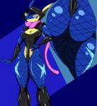 amphibian anthro armor big_butt blue_skin butt clothing female fishnet frog greninja ninja nintendo pokémon saesar solo tongue video_gamesRating: QuestionableScore: 21User: saesarDate: May 24, 2017
