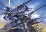 absurd_res amazing armor cloud dragon group gun hi_res horn machine mecha mechanical outside ranged_weapon robot spikes standing toshiaki_takayama weapon wings   Rating: Safe  Score: 14  User: queue  Date: October 03, 2011