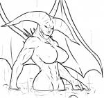 abs black_and_white breasts crossgender dark_souls dark_souls_2 demon female horn humanoid lava line_art looking_at_viewer methados monochrome muscles muscular_female nipples nude old_iron_king partially_submerged solo spikes video_games water wings   Rating: Questionable  Score: 6  User: DeseretiVagabond  Date: August 27, 2014