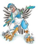 2015 atlantic_puffin avian bird clothing flinters hockey male mascot puffin torn_clothing transformation uniform webbed_feet   Rating: Safe  Score: 2  User: PheagleAdler  Date: February 20, 2015