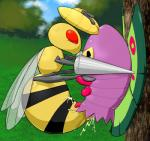abdomen against_wall anal anal_penetration antennae apc_(artist) arthropod bee beedrill cum cum_in_ass cum_inside cum_on_body dripping duo dustox feral feral_on_feral insect interspecies male male/male moth multi_limb nintendo outside penetration penis pokémon red_eyes stinger tears tree video_games wasp wings   Rating: Explicit  Score: 1  User: chdgs  Date: January 10, 2015