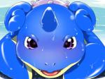 ambiguous_gender blush horn lapras looking_at_viewer moroq nintendo pokémon purple_eyes video_games water wet   Rating: Safe  Score: 4  User: voldosbt  Date: November 10, 2013