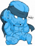 blue_and_white blue_eyes chibi cute male metal_gear monochrome olimarpuke-chan solid_snake solo what   Rating: Safe  Score: 1  User: ahorribleperson  Date: September 30, 2009