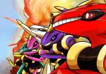 absurd_res cool_guys_don't_look_at_explosions genesect group hi_res kiruiki-chan legendary_pokémon nintendo parody pokémon power_rangers video_games