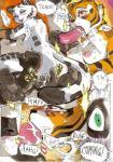 2014 anthro areola balls bear big_breasts breasts comic daigaijin erect_nipples erection feline fellatio female fingering kung_fu_panda male male/female mammal master_tigress nipples oral panda penis po pussy sex smile tiger   Rating: Explicit  Score: 12  User: Robinebra  Date: June 17, 2014