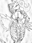 anime anthro ara big_breasts big_thighs breasts female muscles muscular_female nintendo pokémon pose reshiram solo tattoo utachinaru123 video_games   Rating: Safe  Score: 1  User: RyuUtachison  Date: July 13, 2014