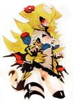 ambiguous_gender breast_fondling breasts clothed clothing duo female fondling giratina group hair hand_on_breast humanoid kantarou legendary_pokémon nintendo nipples pokémon pokémon_(species) pokémorph pussy video_games