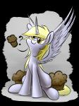 2014 ? blonde_hair derp_eyes derpy_hooves_(mlp) equine feathered_wings female food friendship_is_magic fur grey_fur hair horn mammal muffin my_little_pony smile solo spread_wings underpable winged_unicorn wings yellow_eyes   Rating: Safe  Score: 13  User: Nyteshade  Date: June 16, 2014