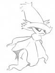 butt female looking_at_viewer looking_back mismagius monochrome nintendo pokémon solo unknown_artist video_games  Rating: Questionable Score: 0 User: Juni221 Date: January 27, 2014
