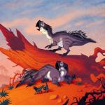 2016 4_fingers 4_toes all_fours ambiguous_gender baby beak biped black_beak black_body black_claws black_feathers ceratopsian claws cloud cub dinosaur eye_markings family feathered_dinosaur feathers feral grass grey_beak grey_body grey_stripes group hi_res johan_egerkrans looking_away lying markings multicolored_feathers no_sclera on_front open_beak open_mouth orange_eyes parent psittacosaurus scalie sky spikes striped_body stripes toe_claws toes tree tree_stump two_tone_body two_tone_feathers white_body white_feathers white_markings youngRating: SafeScore: 7User: facelessmessDate: November 15, 2017