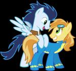 blue_feathers blue_hair braeburn_(mlp) duo earth_pony equine feathered_wings feathers feral friendship_is_magic fur green_eyes hair horse low_res male mammal maximillianveers my_little_pony pegasus pony soarin_(mlp) wings wonderbolts_(mlp) wonderbolts_uniformRating: SafeScore: 0User: poniiiDate: July 21, 2017