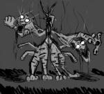 body_horror dark disney feline gazelle_(zootopia) mammal monochrome nightmare_fuel stripper_tiger_(zootopia) tiger video_games what_has_science_done zalgo zootopia  Rating: Safe Score: 0 User: Vaporeon Date: May 06, 2016