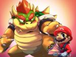 blush bowser duo flower male mario mario_bros nintendo plant scalie sweat unknown_artist video_games  Rating: Safe Score: 1 User: CosmicHare Date: February 20, 2015