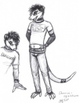 anthro black_and_white chance conditional_dnp duo male mammal marsupial monochrome moodyferret opossum pencil_(artwork) sketch traditional_media_(artwork)  Rating: Safe Score: 2 User: Raiza Date: August 07, 2014