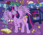 book equine female feral friendship_is_magic horn mammal manestream_studios my_little_pony solo twilight_sparkle_(mlp) winged_unicorn wings   Rating: Safe  Score: 3  User: Robinebra  Date: May 29, 2015