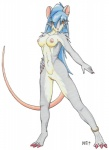 anthro breasts claws crystal_starr ear_piercing female hair looking_at_viewer mammal navel nipples nude piercing pussy rat ratofblades rodent solo standing  Rating: Explicit Score: 9 User: ChestFox Date: March 24, 2014