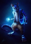 2015 anthro belt blue_theme cargo_pants clothed clothing fingerless_gloves gloves johis knife looking_at_viewer male mammal mouse pendant rodent simple_background solo standing tools tron_lines vest wrench  Rating: Safe Score: 2 User: hslugs Date: April 29, 2016