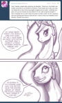ask_princess_molestia berry_punch_(mlp) comic equine female feral friendship_is_magic hair horn john_joseco long_hair mammal monochrome my_little_pony princess princess_celestia_(mlp) royalty solo stated_homosexuality tiara tumblr winged_unicorn wings   Rating: Safe  Score: 8  User: Dogenzaka  Date: October 10, 2011