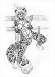 5_toes anthro ball_gag bdsm black_and_white bound breasts collar feline female gag greyscale hair leopard mammal monochrome nipples nude paws pussy restrained rope scan short_hair sketch snow_leopard solo spots spread_legs spreading suspension thetiedtigress toes traditional_media_(artwork) wedgie   Rating: Explicit  Score: 25  User: ippiki_ookami  Date: April 14, 2013