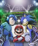 anthro blue_eyes capcom clothing crossover english_text facial_hair green_eyes group hedgehog human humanoid male mammal mario mario_bros mega_man_(character) mega_man_(series) mivion mustache nintendo smile sonic_(series) sonic_the_hedgehog stadium text video_games   Rating: Safe  Score: 13  User: darknessRising  Date: December 31, 2013