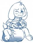 asriel_dreemurr blush cake diaper embarrassed feces fillyscoots42 food monster one_eye_closed paws plate quivering_lips scat soiling squint undertale video_games wink  Rating: Questionable Score: -3 User: Mur Date: March 25, 2016