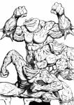 abs amphibian andreygorkovenko anthro battletoads biceps bottomless brown_eyes brown_skin clothed clothing crouching eyewear flexing glasses green_eyes green_skin grin group half-dressed looking_at_viewer male muscles nude pads pecs pimple_(battletoads) rash_(battletoads) smile standing sunglasses teeth toad toned topless vein video_games wristband zitz_(battletoads)  Rating: Safe Score: 1 User: Robinebra Date: August 14, 2015