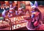 anthro bakery cake canine clothing eyewear flower food glasses group inside jackal looking_at_viewer lucario maid maid_uniform mammal mega_evolution mega_lucario muffin nintendo nongqiling plant pokémon riolu standing table video_games  Rating: Safe Score: 33 User: 2Joey4U Date: July 18, 2015