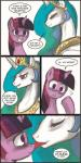 comic equine female friendship_is_magic horn horse john_joseco lesbian licking mammal my_little_pony pony princess_celestia_(mlp) rainygami shipping tongue twilight_sparkle_(mlp) unicorn winged_unicorn wings   Rating: Questionable  Score: 20  User: EurynomeEclipseVII  Date: January 16, 2014