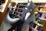 amphibian being_watched blue_eyes blush book canine clothed clothing couple dog female fox frog frogela from_behind_position green_skin grope hi_res jox library male mammal poodle public sex silver_fox skunk standing tiaamaito  Rating: Safe Score: 9 User: angie Date: January 15, 2016