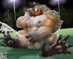 4_toes anthro barazoku beard blazingcheecks canine claws clothing corruption cum cumshot ejaculation erection facial_hair feet foot_focus fur grass hair jockstrap knot male male_focus mammal messy muscular muscular_male nipples orange_hair orgasm overweight overweight_male pawpads pecs penis shirt sitting soles solo story story_in_description tank_top tight_clothing toe_claws toes tongue tongue_out torn_clothing touching_penis transformation underwear underwear_sniffing were werewolf