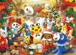2016 ambiguous_gender anthro canine christmas costume dedenne delibird detailed_background drifloon eevee espurr furret furry_character_wearing_fursuit fursuit holidays hoothoot litten lucario mammal meowth multi_tail nintendo official_art oshawott pokémon pokémon_(species) pokémon_costume ponyta popplio present_box rocking_horse rowlet scraggy snorlax snover snow_globe video_games vulpix