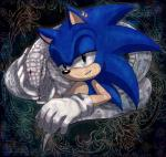 anthro black_nose blue_hair clothing duo ear_piercing flower gloves green_eyes hair half-closed_eyes hedgehog jewelry male mammal piercing plant portrait red_eyes reptile scalie short_hair snake sonic_(series) sonic_the_hedgehog tongue tongue_out video_games ユィスパー  Rating: Safe Score: 2 User: Cαnε751 Date: November 25, 2015