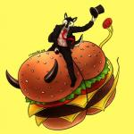 2015 anthro black_sclera burger canine chimeradick claws dog food fruit hat horn husky male mammal necktie one_eye_closed riding simple_background solo suit thehuskyk9 toe_claws tomato tongue tongue_out top_hat yellow_eyes  Rating: Safe Score: 16 User: TheHuskyK9 Date: November 14, 2015