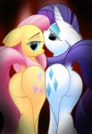 2012 bedroom_eyes butt cutie_mark duo equine female feral fluttershy_(mlp) friendship_is_magic hair half-closed_eyes horn horse mammal my_little_pony pink_hair pony purple_hair raised_tail rarity_(mlp) shy twintailsinc unicorn   Rating: Questionable  Score: 29  User: Kholchev  Date: July 20, 2012