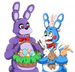 animatronic anthro bonnie_(fnaf) easter five_nights_at_freddy's five_nights_at_freddy's_2 green_eyes group holidays lagomorph machine mammal rabbit robot toy_bonnie_(fnaf) video_games  Rating: Safe Score: 13 User: Captain_Dragonuv Date: March 25, 2015