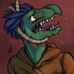 anapnea anthro asphyxiation blood blue_hair clothed clothing crying drooling fangs hair hanging male open_mouth rope saliva scalie solo tears teeth tongue   Rating: Questionable  Score: 0  User: Peekaboo  Date: November 02, 2014