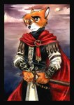 ainessa's_martyrs anthro canine cloak clothing fox fox_keegan holding holding_weapon knight male mammal solo sword tracy_j_butler weapon   Rating: Safe  Score: 7  User: The Dog In Your Guitar  Date: March 01, 2007