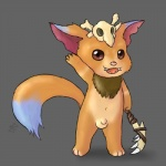 2015 anthro balls clothing cub cute fur gnar_(league_of_legends) hair league_of_legends male mammal open_mouth penis plain_background skull solo video_games young zekromlover   Rating: Explicit  Score: 10  User: zekromlover  Date: February 03, 2015